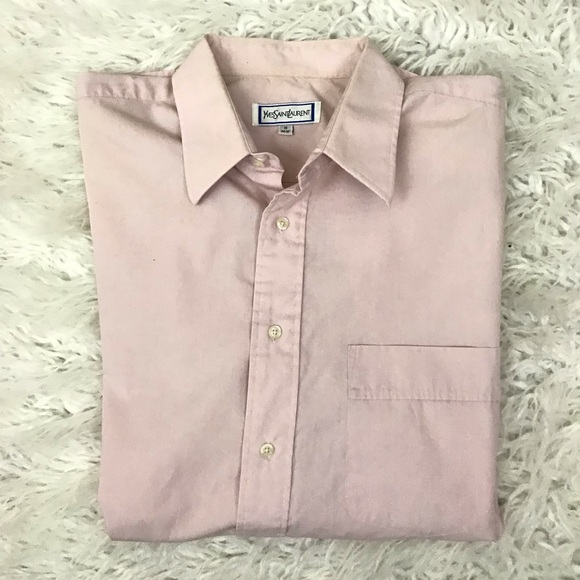 a68229f9 Yves Saint Laurent Shirts   Ysl Pink Button Down Shirt   Poshmark